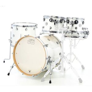 Jeu de fûts DW design White Gloss