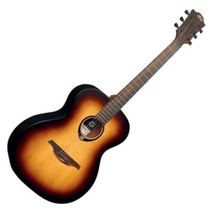 Guitare acoustique LAG Tramontane Nature T70 A BRB Brownburst