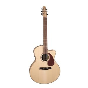 seagull performer cutaway mini jumble flame maple qit guitare électro-acoustique