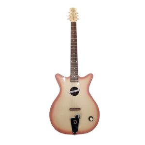 Danelectro guitare convertible peach burst