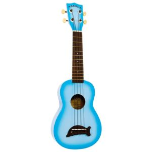 kala ukulélé soprano dolphin light blue burst